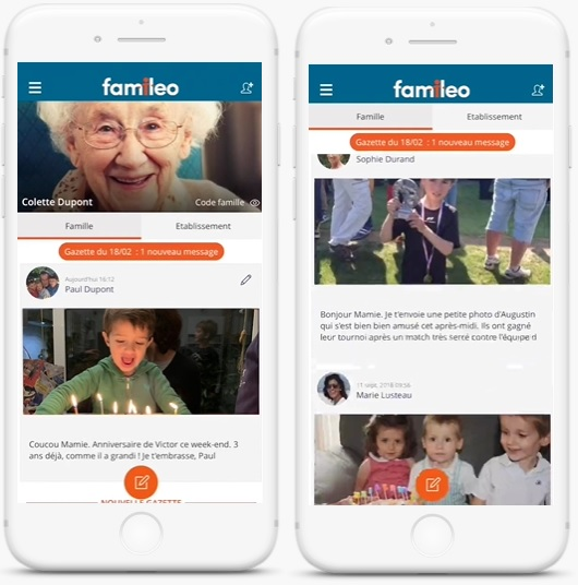 application Familéo mobile