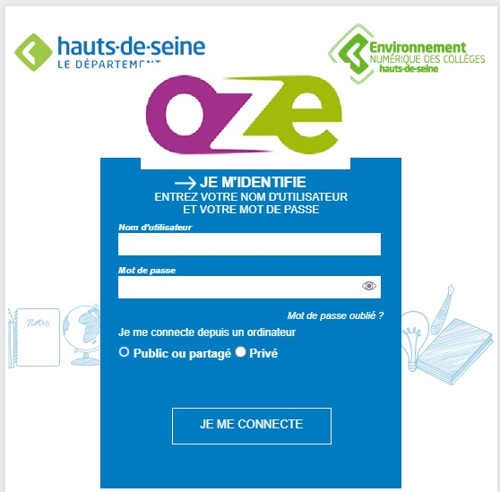 portail élève parent oze 92 collège hauts de seine