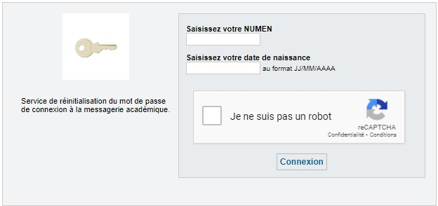 webmail ac amiens réinitiation mot de passe oublié