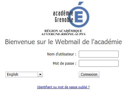 Webmail ac Grenoble Mon compte messagerie