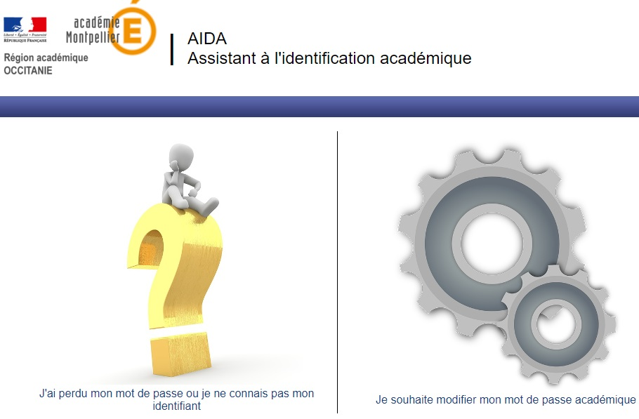 webmail ac Montpellier assistance Aida