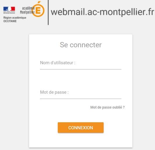 webmail ac Montpellier portail de connexion