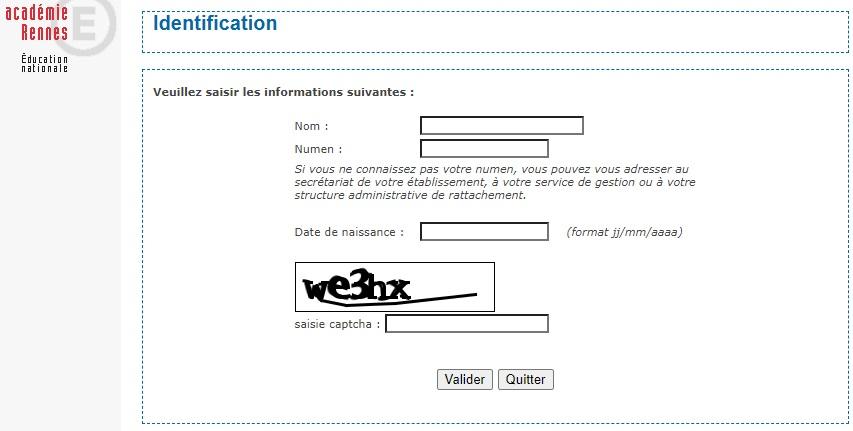 Webmail Rennes mot de passe oublié identification