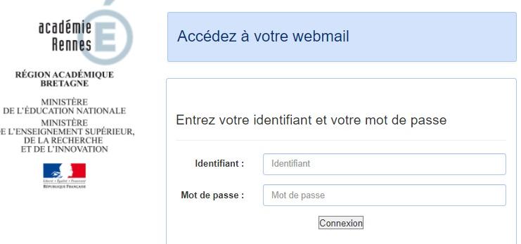 Webmail ac Rennes portail messagerie