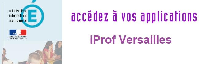 iProf Versailles mon compte espace personnel