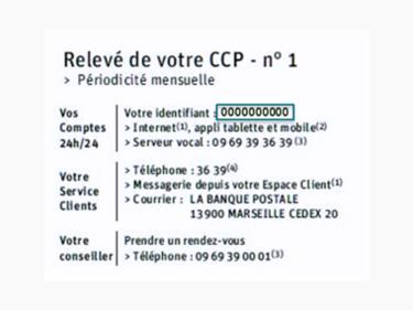 identifiant relevé bancaire ccp relevé compte courant